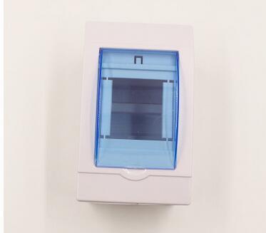 全塑料2-3位空开盒断路器安装盒 2-3回路明装照明配电箱