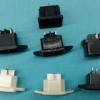 电饭锅插枝座 电动车专用插片式插座 卡式品字三极插座