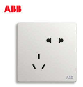 ABB轩致无框开关插座二位二三极插座AF205;10183450