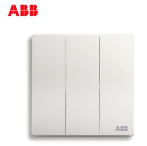 ABB轩致无框开关插座三位单控开关AF123;10183439