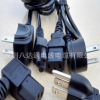 美式插头线厂家 美规 美标三插梅花尾/品字尾 实用 纯铜AC电源线