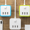 创意魔方插座带USB立体排插接线板插托板智能多功能家用插排