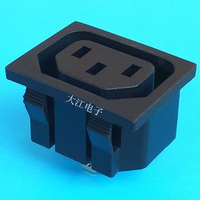 厂家直销LECI面板品字母插座AC电源机箱卡式插座批发CCCVDE认证