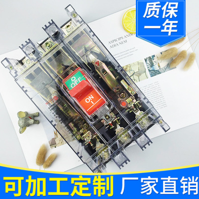 厂家直销 塑料漏电断路器空气开关 小型断路器家用过载保护器总闸
