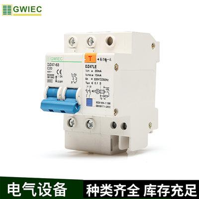 厂家批发贵客 DZ47LE-63/2P 漏电断路器 空气开关带漏电保护器