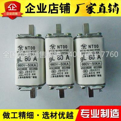NT00-80A快速熔断器RT16 NTOO-16A低压熔断器160A 陶瓷低压熔断器