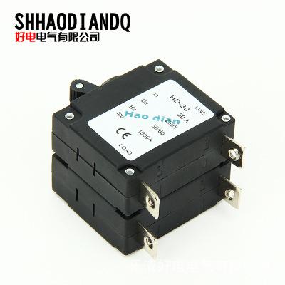 直销 低压断路器开关HD-30/2P 液压式电磁断路器 设备保护过磁式