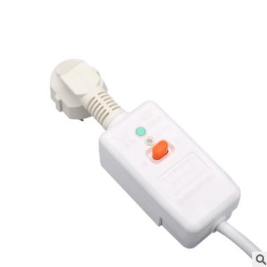 销售防水漏电插头带电源线 国标10a漏电保护插头热水器保护插头