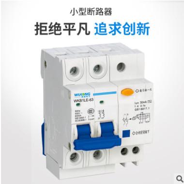 原厂直销 新款家用DZ47LE小型漏电保护断路器2P63A漏电保护器系列