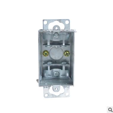 LINSKY灵天UL&CUL认证美标镀锌板接线盒3518装开关插座