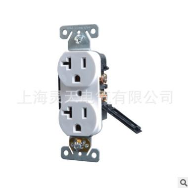 UL&CUL认证美标双联插座带保护门防触电20A,125V