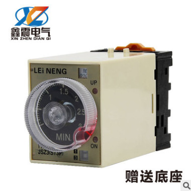 ?JSZ3时间继电器ST3PA-B A C D延时继电器AC220V380v24v送座雷能