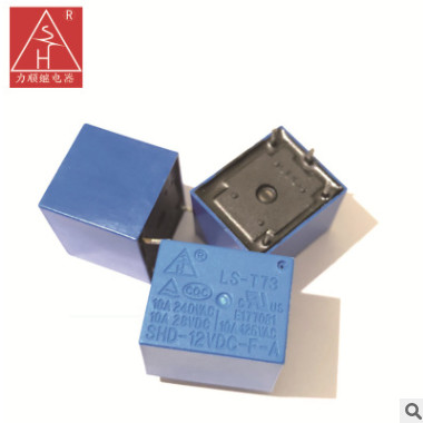 继电器 SHD-12VDC-F-A T73继电器 12V 1H 4脚常开 pcb通用继电器