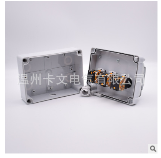 定制三位防水防尘旋钮开关盒LA38型10A二挡自锁自复位控制开关盒