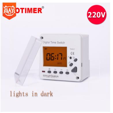 欧美热销 带背光 时控时间开关定时器 220V AC 面板安装 TM617