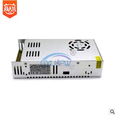 工控马达步进电机电源60V360开关电源DC60V6A直流电源变压器
