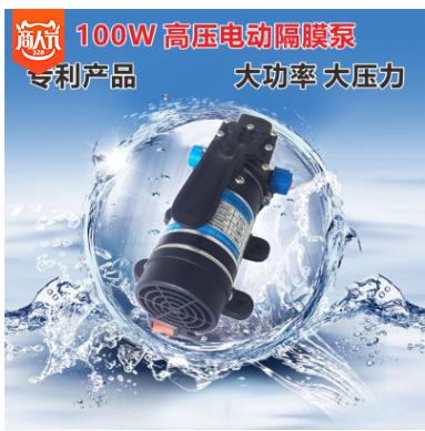 洗铁龙电动高压洗车水泵 电动隔膜泵 12V100W直流自吸智能