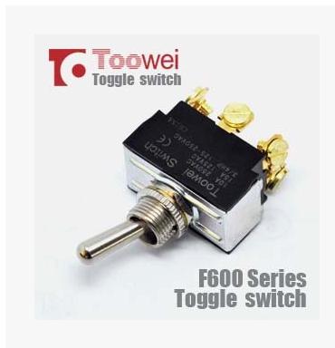 供应 6P三档 (ON)-OFF-(ON) 常开复位钮子开关 T6025
