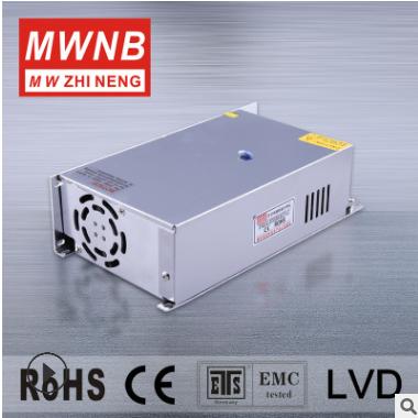 厂家直销铭纬600W12V50A大功率开关电源S-600-12开关电源 MWNB