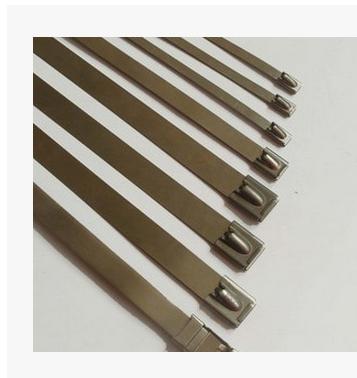 厂家不锈钢扎带 滚珠式自锁扎带 自锁式扎带 捆扎物流钢丝扎带