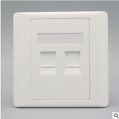 86型白色双口信息面板、不含模块