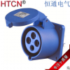 生产厂家 暗装工业插头插座9h 16A 220V 正品保证 支持混批