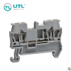 UTL尤提乐JUT3-2.5 工业接线端子 UL二导线贯通型 接线端子排