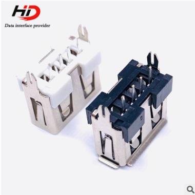厂家直销充电器接口立式10.0 USB母座短体 电源连接器插座零件