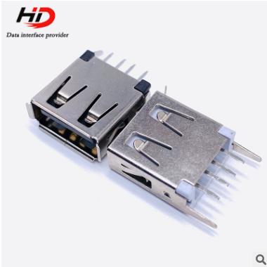 厂家直销立式13.0 USB母座立式 电子连接器插头插座配件供应
