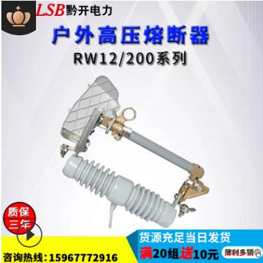 黔开RW12-15/100A200A户外10kv高压跌落式熔断器令克带灭弧罩陶瓷