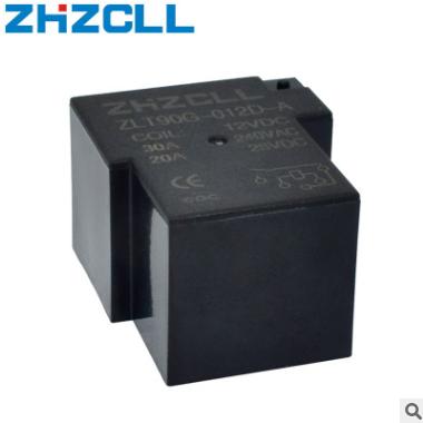 线路板用SPST 4PIN RELAY 20A 30A 4脚常开继电器T90 12V