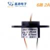 晶沛6/8/18路*2A帽式导电滑环中小型机电设备精密仪器旋转电接头