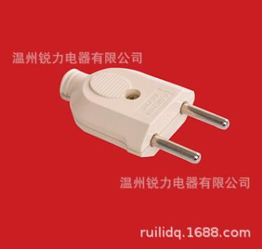 简易插头,欧式插头,接线电源插头,扁插头