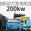 潍柴200KW柴油发电机组 潍柴蓝擎200千瓦三相发电机组 电启动380v