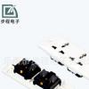 厂家供应 电源插座 WH-003 2位6孔墙壁插座 工业插座 质量保证