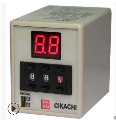 CIKACHI台湾嘉阳 多段式数位型限时继电器AH3D-DM 时间继电器