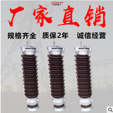 勇高35KV陶瓷避雷器Y5WZ-51/134 40.5kv交流瓷外套氧化锌避雷器