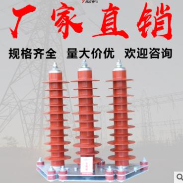 勇高直销35KV电站型避雷器HY5WZ-51/134复合外套金属氧化锌避雷器