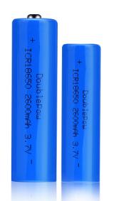 倍量18650锂电池2600mah足容量3.7V充电电池对讲门铃18650电池