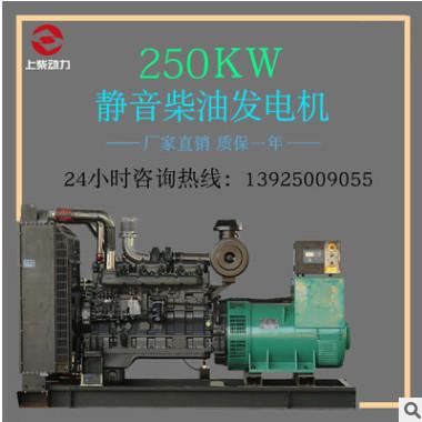 250kw上柴股份柴油发电机组 三相纯铜无刷发电机厂家直销品质保证