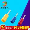 PTV2-12 针形预绝缘端头 冷压接线端子 冷压线鼻 实心插针铜接头
