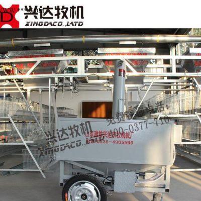 肉鸡半自动喂料机 镀锌板耐腐蚀 自动化养鸡设备直销
