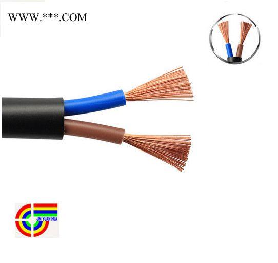 远华RVV2芯4平方软护套二芯国标纯铜黑色控制信号工控电源电缆线