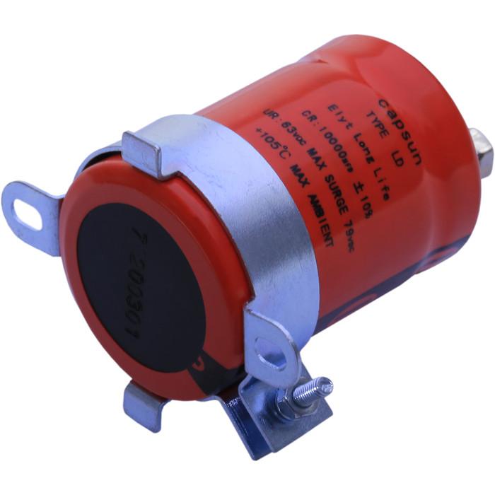 专业制造1800UF350v高低压开关柜 电力变压器用红色螺栓铝电容器
