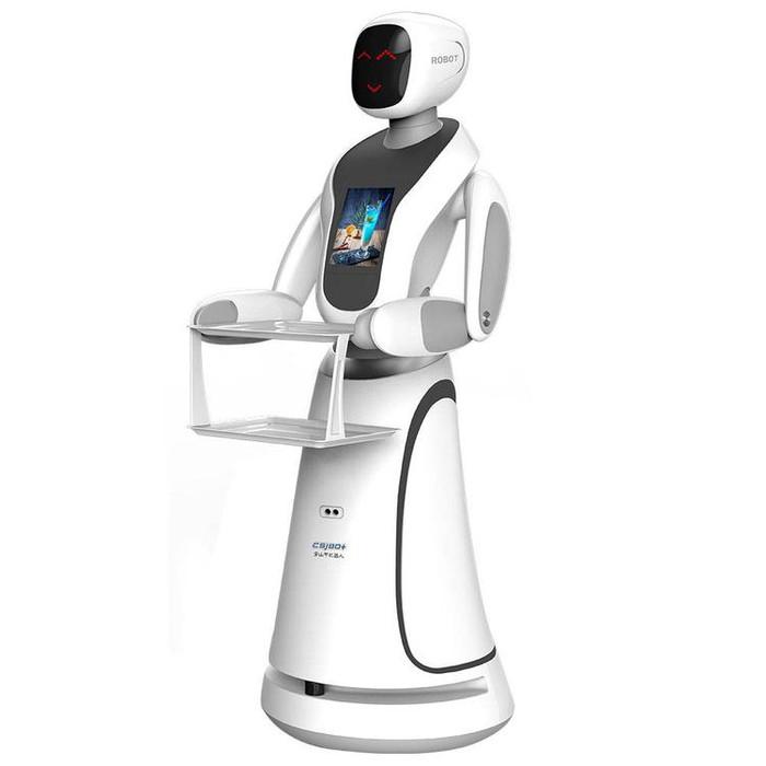 成都送餐机器人  智能传菜送菜迎宾无轨机器人  配送机器人