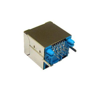 东莞市**RJ11连接器插座带屏蔽带LED180度RJ11连接器插座批发