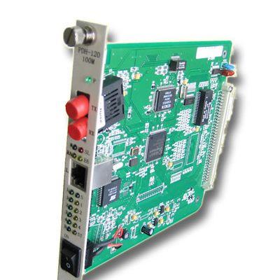【电信级】4E1+100M以太网 PDH光端机 插卡 FC