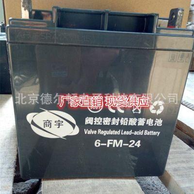 商宇蓄电池12V24AH 6-FM-24 监控 服务器免维护蓄电池厂销