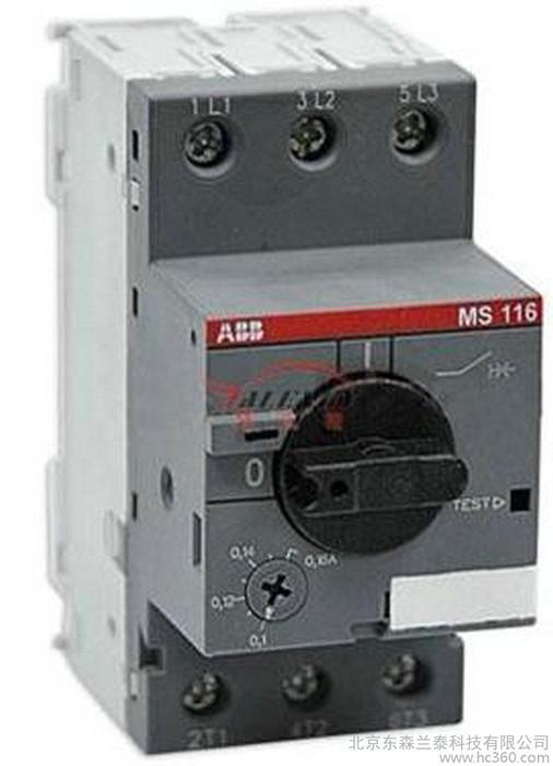 ABB电动机保护器 MS132-0.4 0.25A- 0.4A订货,货期咨询客服