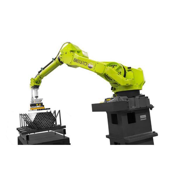 化工行业塑料搬运码垛机器人 北京深隆全自动码垛机器人 物料搬运码垛机系统 自动视觉码垛机深隆ST6532非标定制